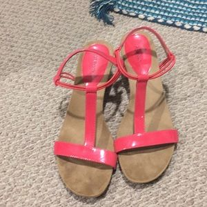 Size 8.5 wedge sandals